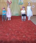 Фото и видеоотчет с празднования 8 марта в младшей смешанной группе